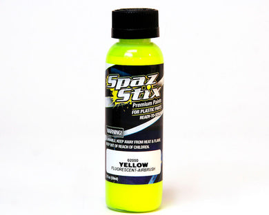 Spaz Stik SZX02050 Yellow Fluorescent Airbrush Paint 2oz