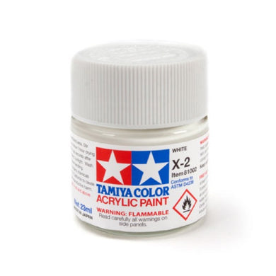 Tamiya 81002 Acrylic Paint 23ml X-2 Gloss, White