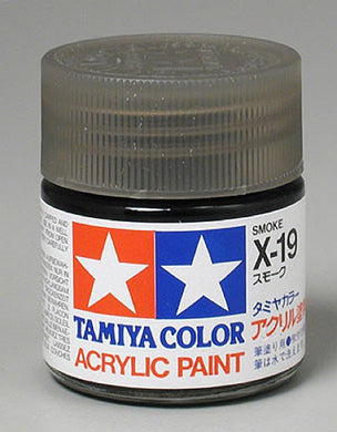 Tamiya 81019 Acrylic Paint 23ml X-19 Gloss, Smoke