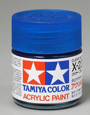 Tamiya 81023 Acrylic Paint 23ml X-23 Gloss, Clear Blue