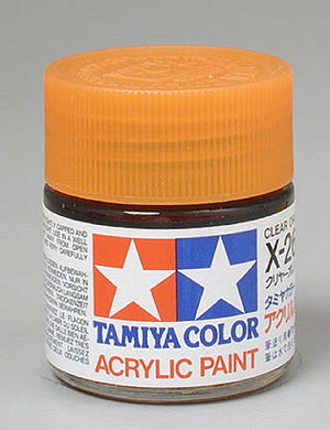 Tamiya 81026 Acrylic Paint 23ml X-26 Gloss, Clear Orange