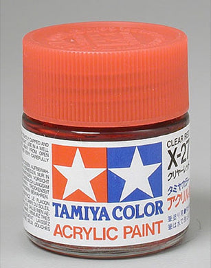 Tamiya 81027 Acrylic Paint 23ml X-27 Gloss, Clear Red