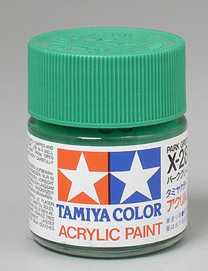 Tamiya 81028 Acrylic Paint 23ml X-28 Gloss, Park Green