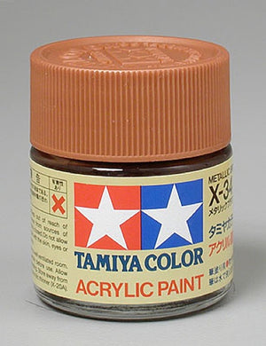 Tamiya 81034 Acrylic Paint 23ml X-34 Gloss, Metallic Brown