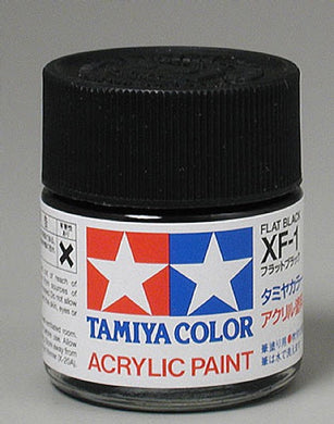 Tamiya 81301 Acrylic Paint 23ml XF-1 Flat, Black