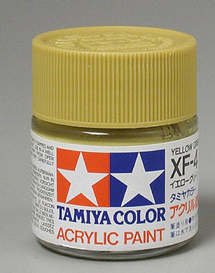 Tamiya 81304 Acrylic Paint 23ml XF-4 Flat, Yellow Green