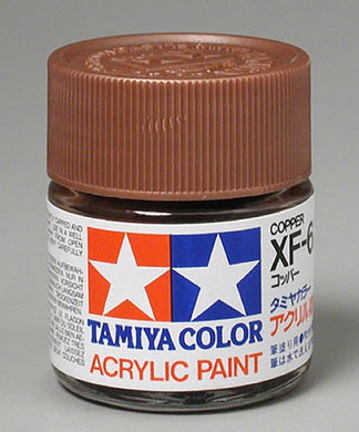 Tamiya 81306 Acrylic Paint 23ml XF-6 Flat, Copper