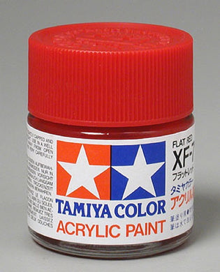 Tamiya 81307 Acrylic Paint 23ml XF-7 Flat, Red