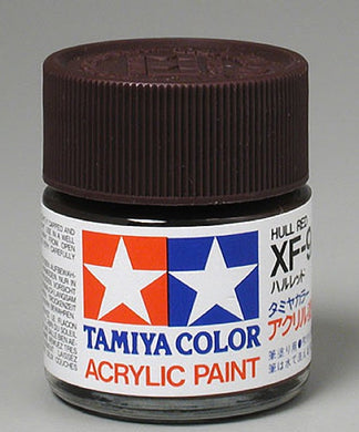 Tamiya 81309 Acrylic Paint 23ml XF-9 Flat, Hull Red