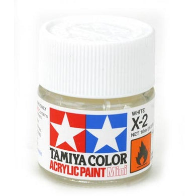Tamiya 81502 Acrylic Paint 10ml Mini X-2 Gloss White