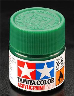 Tamiya 81505 Acrylic Paint 10ml Mini X-5 Gloss Green