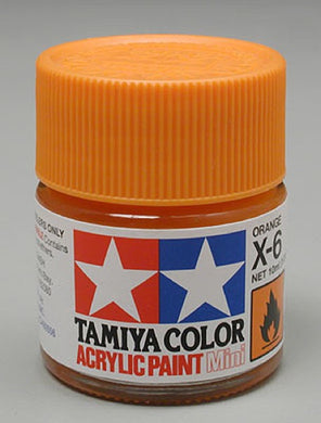 Tamiya 81506 Acrylic Paint 10ml Mini X-6 Gloss Orange