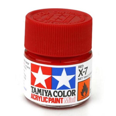 Tamiya 81507 Acrylic Paint 10ml Mini X-7 Gloss Red