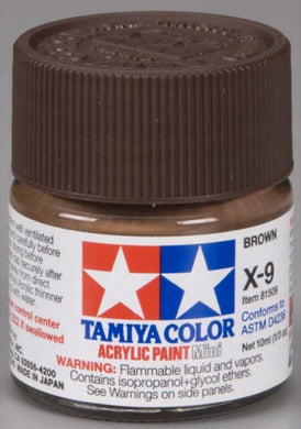 Tamiya 81509 Acrylic Paint 10ml Mini X-9 Gloss Brown
