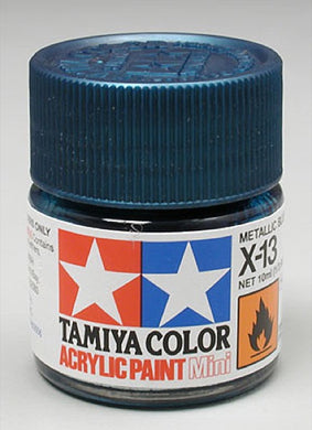 Tamiya 81513 Acrylic Paint 10ml Mini X-13 Gloss Metallic Blue