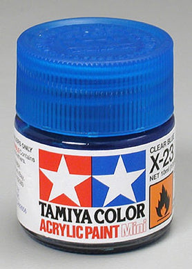 Tamiya 81523 Acrylic Paint 10ml Mini X-23 Gloss Clear Blue
