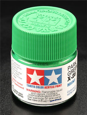 Tamiya 81528 Acrylic Paint 10ml Mini X-28 Gloss Park Green
