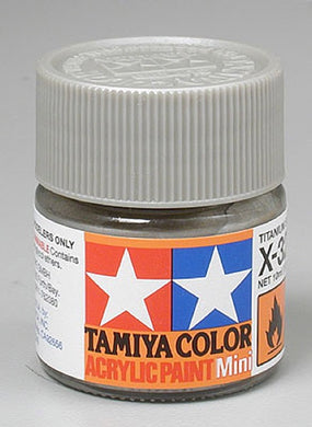 Tamiya 81532 Acrylic Paint 10ml Mini X-32 Gloss Titan Silver