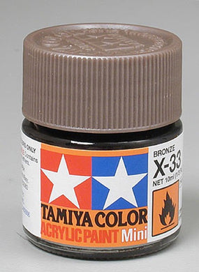 Tamiya 81533 Acrylic Paint 10ml Mini X-33 Gloss Bronze