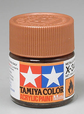 Tamiya 81534 Acrylic Paint 10ml Mini X-34 Gloss Metallic Brown