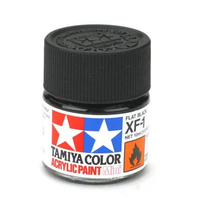 Tamiya 81701 Acrylic Paint 10ml Mini XF-1 Flat Black