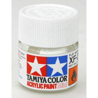 Tamiya 81702 Acrylic Paint 10ml Mini XF-2 Flat White