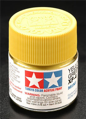Tamiya 81704 Acrylic Paint 10ml Mini XF-4 Yellow Green