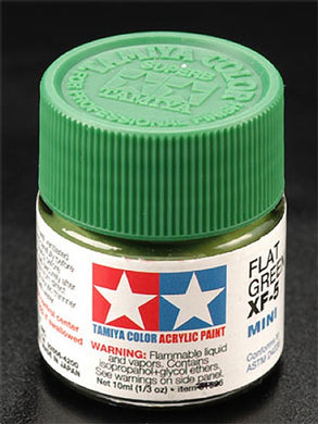 Tamiya 81705 Acrylic Paint 10ml Mini XF-5 Flat Green