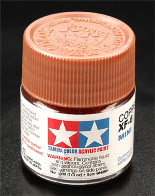 Tamiya 81706 Acrylic Paint 10ml Mini XF-6 Copper