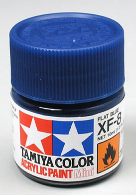 Tamiya 81708 Acrylic Paint 10ml Mini XF-8 Flat Blue
