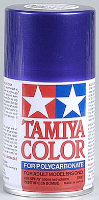 Tamiya 86018 Polycarbonate RC Body Paint 100ml Spray Can PS-18 Metallic Purple