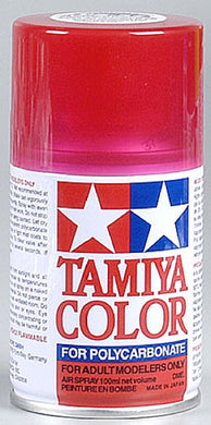 Tamiya 86037 Polycarbonate RC Body Paint 100ml Spray Can PS-37 Translucent Red