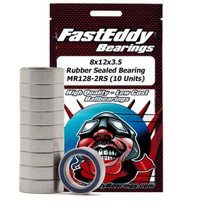 Fast Eddy Bearings TFE276 8x12x3.5 Rubber Sealed Bearing MR128-2RS-10 Units