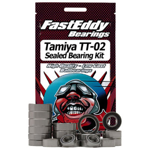 Fast Eddy Bearings TFE411 Rubber Sealed Bearing Kit: Tamiya TT-02 Chassis