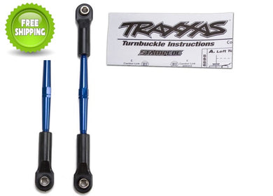 Traxxas TRA2336A Blue Aluminum Turnbuckle Toe Links (2) 61mm: Stampede VXL XL-5