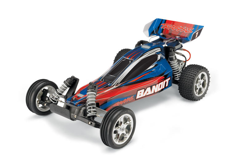 Traxxas TRA24054-1-BLUEX Bandit XL-5 2wd 1/10 Scale Off-Road Buggy RTR +TQ 2.4GHz Radio+Battery & Charger