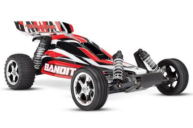 Traxxas TRA24054-4-Red Bandit XL-5 2wd 1/10 Scale Off-Road Buggy RTR +TQ 2.4GHz Radio