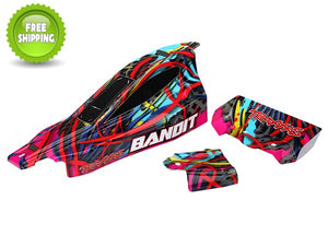 Traxxas TRA2449 Body, Bandit, Hawaiian graphics (painted, decals applied)