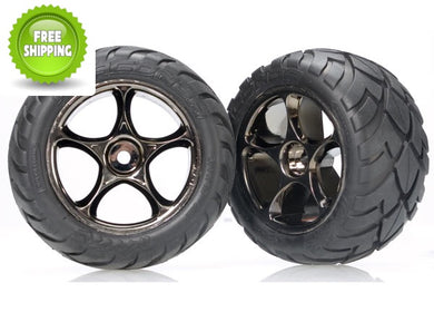Traxxas TRA2478A Black-Chrome Tracer Wheels/Anaconda Tires: Rear Bandit VXL XL-5