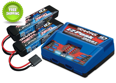 Traxxas TRA2991 Battery Pack & Dual Charger Combo TRA2972 + Two (2) 7600mAH LiPo