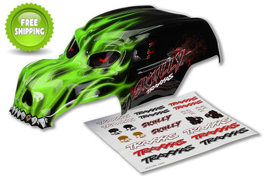 Traxxas TRA3633G Pre-Painted Green Skully Body with Decals: 1/10 Monster Jam