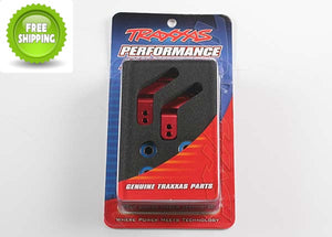 Traxxas TRA3652X Aluminum Rear Stub Axle Carriers w/Bearings Red: Slash 2wd