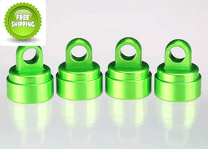 Traxxas TRA3767G Green Aluminum Shock Caps(4) Fits Ultra Shocks: Slash 2wd & 4x4