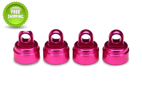Traxxas TRA3767P Pink Aluminum Shock Caps (4) (fits Ultra Shocks)