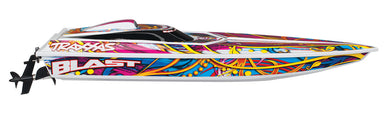 Traxxas TRA38104-1-Swirl Blast High Performance Race Boat RTR +TQ 2.4GHz Radio