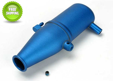 Traxxas TRA5342 Blue Aluminum Tuned Pipe: Revo 3.3 Slayer 4x4 & 2wd