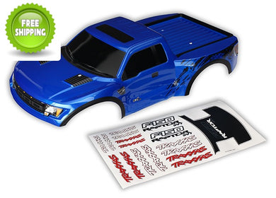 Traxxas TRA5815A Blue Ford Raptor Body (Painted w/Decals): 1/10 Slash 4x4 & 2wd