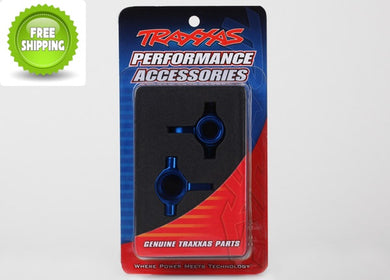 Traxxas TRA6439 Blue Aluminum Steering Blocks: 1/7 XO-1 / X0-1 & Slash 4x4
