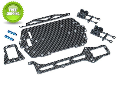 Traxxas TRA7525 Carbon Fiber Chassis Conversion Kit: LaTrax 1/18 Rally & Teton