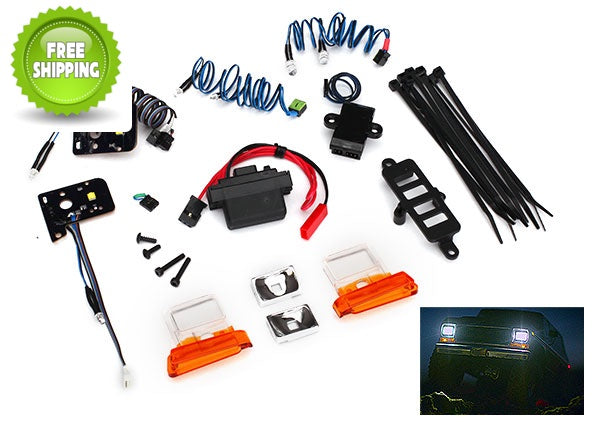 Traxxas TRA8035 LED Light Set, complete with power supply: 1/10 TRX-4